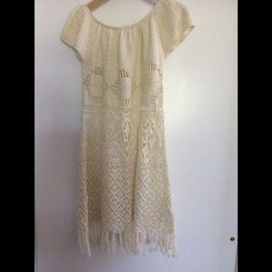 NWT cotton crochet dress
